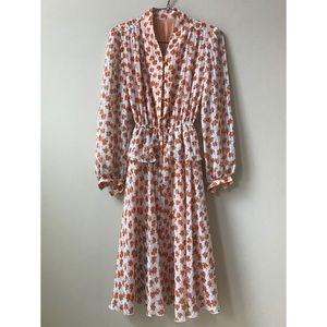 50s, 60s vintage floral spring dress from Tokyo